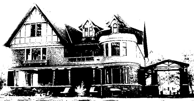 Story mansion black and white