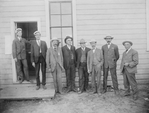 1915 L to R Ernst Edsall, Justin Smith, R D Steel, walter cooper, riven fisher, AC, Hoffman