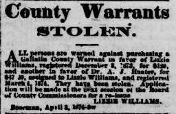 County Warrants